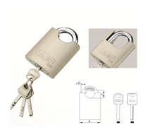 arc type shackle protected padlock