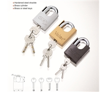 arc type shackle protected pin padlock