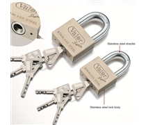 stainless steel rekeyable padlock