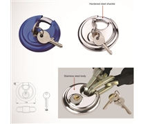 stainless steel disc padlock