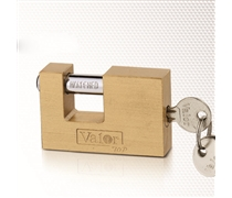 rectangular brass padlock