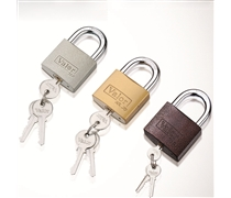color case iron padlock
