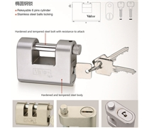 oval type steel padlock