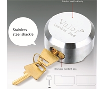 Puck shackleless stainless steel lock
